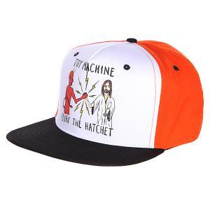 Бейсболка  Bury Hatchet Ii Cap Orange/Black Toy Machine. Цвет: черный,белый,оранжевый