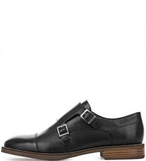 Черные туфли монки Vagabond. Цвет: черный