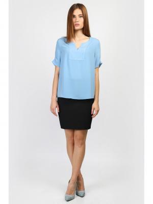 Блузка EMKA FASHION. Цвет: голубой