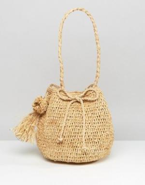 Hat Attack Соломенная сумка. Цвет: бежевый
