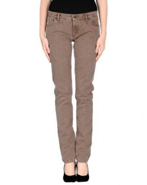 Джинсовые брюки NICE THINGS by PALOMA S.. Цвет: хаки