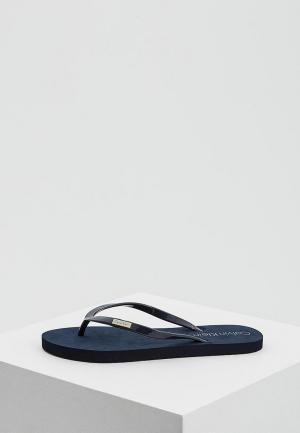 Сланцы Calvin Klein Underwear. Цвет: синий