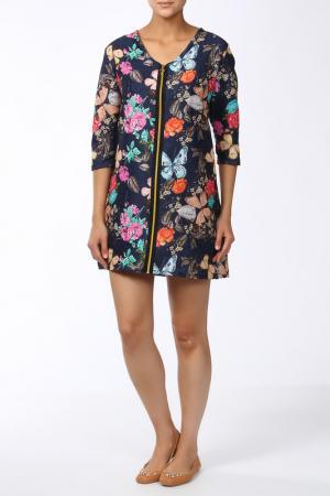 Платье Веста. Цвет: бабочки