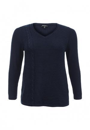 Пуловер Ulla Popken. Цвет: синий