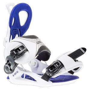 Крепления для сноуборда женский  B-real White/Blue/Black GNU. Цвет: белый,синий,черный