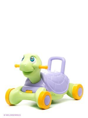 Каталка-качалка Счастливая черепашка Chicos. Цвет: зеленый