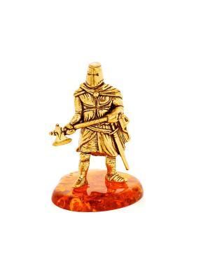 Фигура Рыцарь с топором Aztek. Цвет: желтый, коричневый, светло-оранжевый