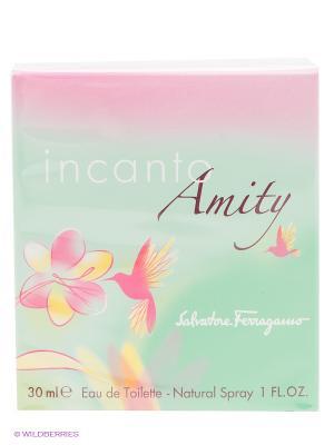 Туалетная вода Ferragamo Incanto Amity, 30 мл. Цвет: светло-зеленый, розовый