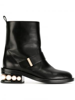 Байкерские ботинки Casati Pearl Nicholas Kirkwood. Цвет: чёрный