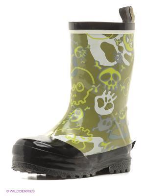 Резиновые сапоги NELS. Цвет: зеленый