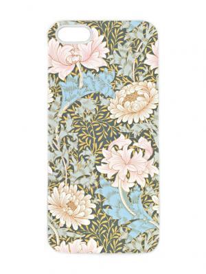 Чехол для iPhone 5/5s Нежные пионы Арт. IP5-261 Chocopony. Цвет: белый, хаки, голубой, светло-бежевый, розовый