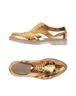 Обувь на шнурках FABRIZIO CHINI. Цвет: медный