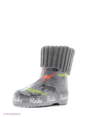 Резиновые сапоги REIKE. Цвет: серый