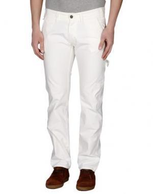 Повседневные брюки 2 MEN. Цвет: слоновая кость