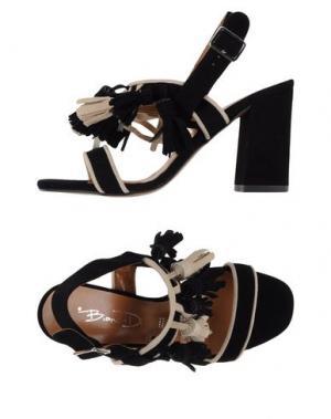 Сандалии BIANCA DI. Цвет: черный