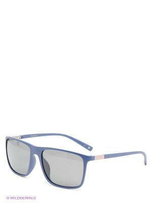Солнцезащитные очки Polaroid. Цвет: синий, серый