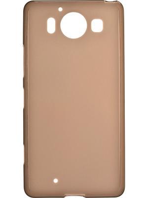 Microsoft Lumia 950 skinBOX sheild silicone case 4People. Цвет: коричневый