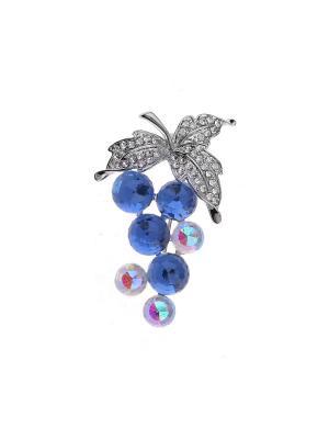 Брошь Fiore Lune. Цвет: серебристый, белый, голубой