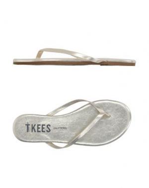 Вьетнамки TKEES. Цвет: платиновый