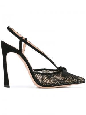 Туфли-лодочки с ремешком сзади Giambattista Valli. Цвет: чёрный
