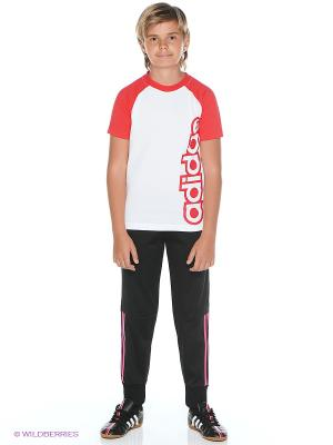 Брюки YG W PES PANT Adidas. Цвет: черный, розовый