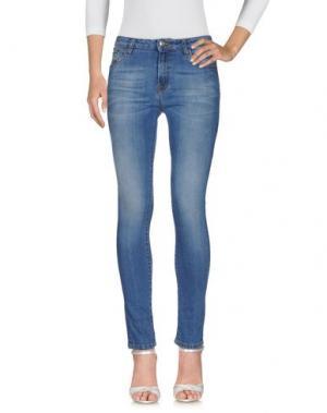 Джинсовые брюки ORLEANI. Цвет: синий