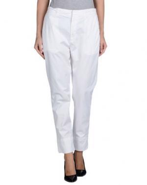 Повседневные брюки HOPE. Цвет: белый