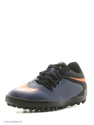 Шиповки JR HYPERVENOMX PRO TF Nike. Цвет: синий