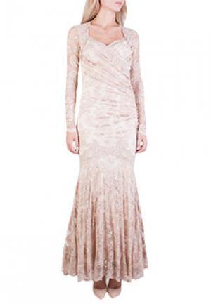 Платье OLVI`S. Цвет: бежевый