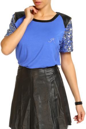 Блуза SARAH KERN. Цвет: темно-синий