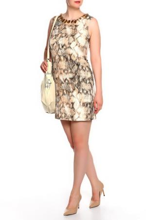 Платье Mon Cheri. Цвет: бежевый