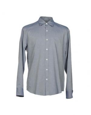Джинсовая рубашка HARDY AMIES. Цвет: синий