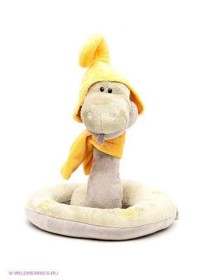 Игрушка змей Луи 30см ORANGE. Цвет: оливковый, желтый