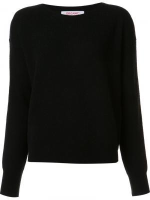 Round neck loose-fit sweater Organic By John Patrick. Цвет: чёрный