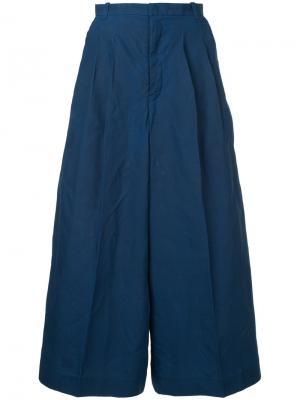 Широкие брюки Facetasm. Цвет: синий