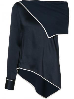 Блузка асимметричного кроя Monse. Цвет: синий