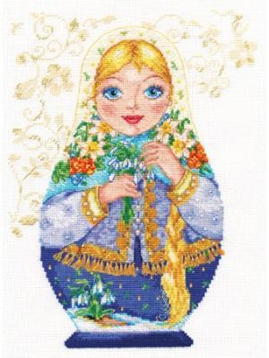 Набор для вышивания Матрешки. Весна- краса 19х26 см  Алиса. Цвет: желтый, зеленый, красный