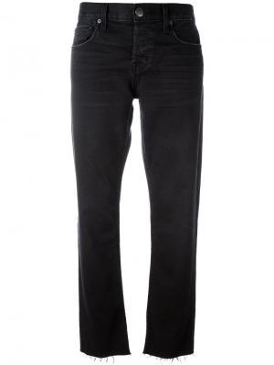 Укороченные брюки прямого кроя Current/Elliott. Цвет: чёрный