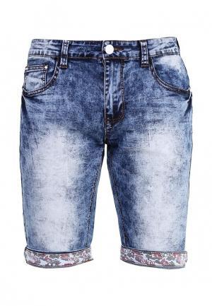 Шорты джинсовые Leggendario. Цвет: голубой