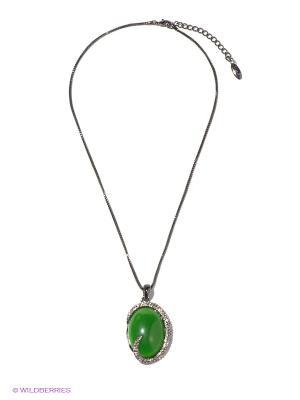 Колье Bijoux Land. Цвет: зеленый, серый