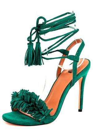 Босоножки Riccorona. Цвет: зеленый