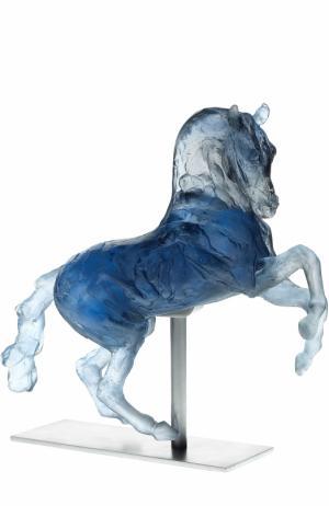 Скульптура Лошадь Александра Македонского Daum. Цвет: синий