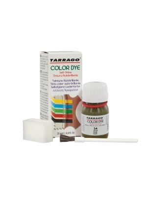 Краситель  для гладкой кожи TDC01 COLOR DYE, стекло, 25мл. (034 оливковый) Tarrago. Цвет: оливковый
