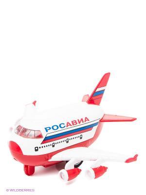 Самолет Технопарк. Цвет: белый, красный