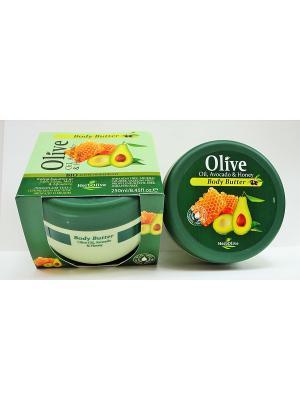 Герболив масло для тела с авокадо и медом, 250мл Madis S.A.. Цвет: оливковый
