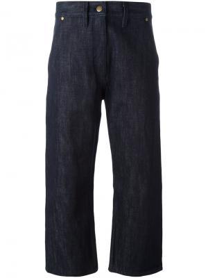 Укороченные джинсы Studio Nicholson. Цвет: синий