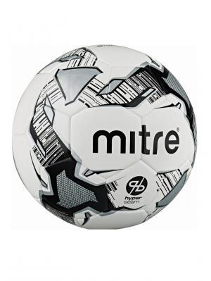 Мяч футбольный MITRE CALCIO HYPERSEAM FB 4 размер. Цвет: черный,серый,белый