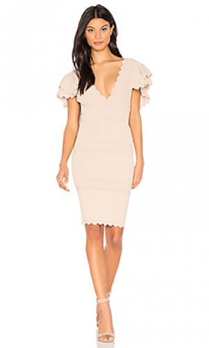 Платье rafela Ronny Kobo. Цвет: серо-коричневый