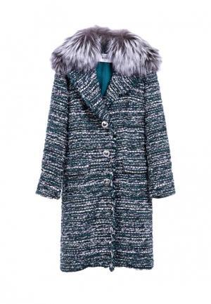 Пальто RinDi. Цвет: зеленый