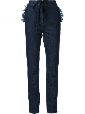 Джинсовые брюки прямого кроя Tomas Maier. Цвет: синий